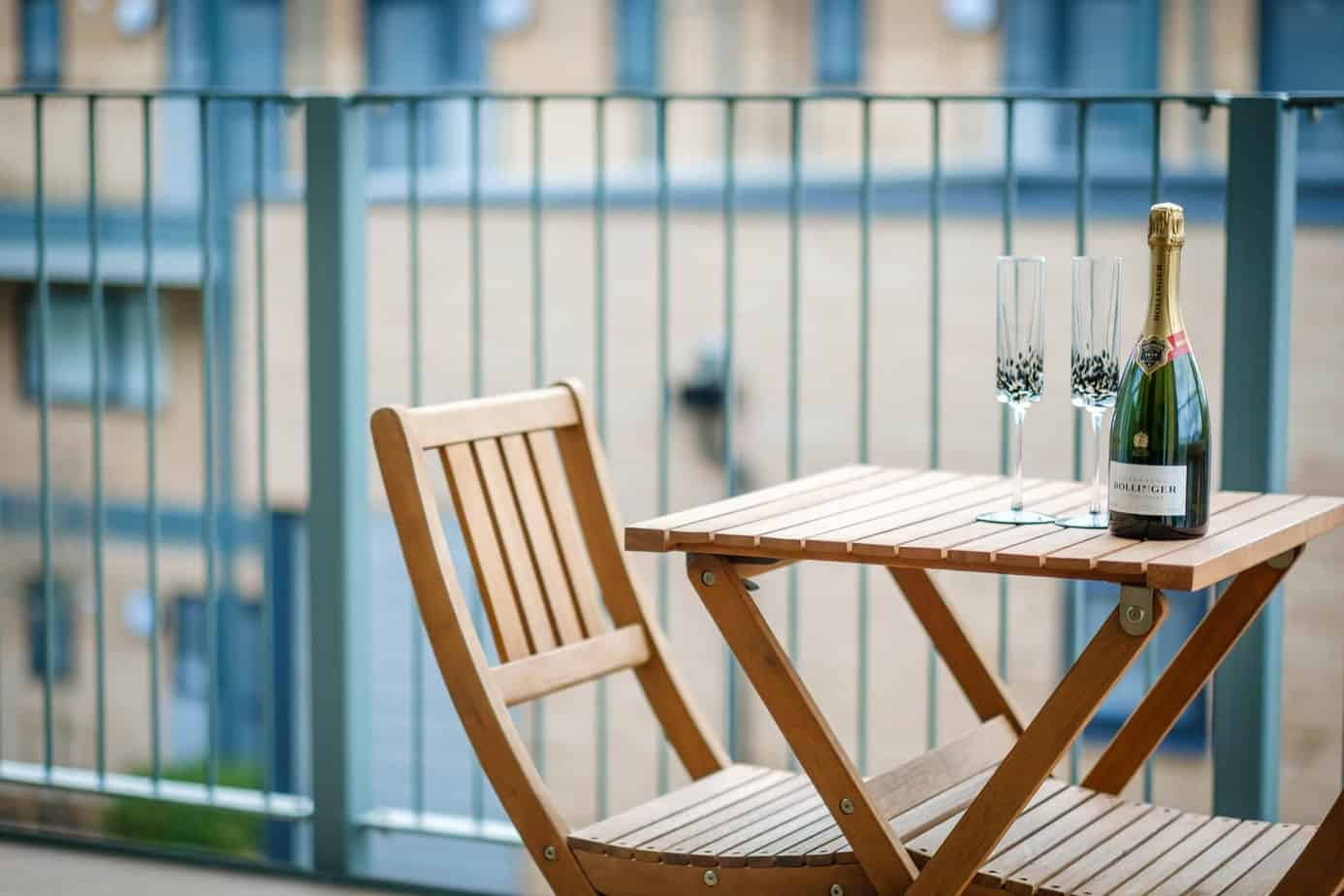 Tailored Stays grand central cambridge serviced apartment balcony
