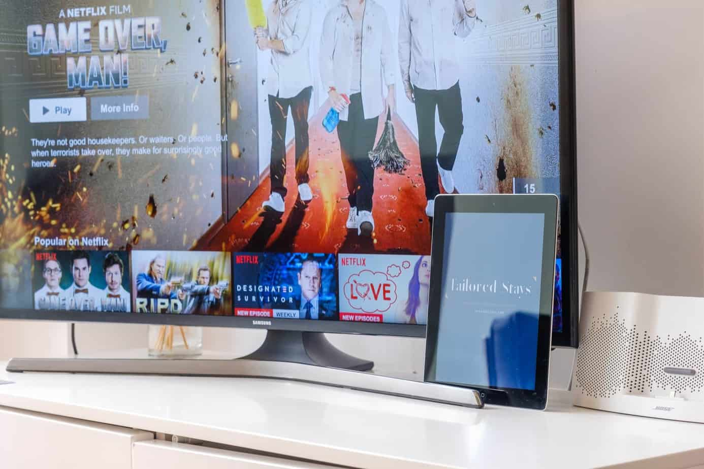 Tailored Stays Flamsteed serviced apartment smart tv
