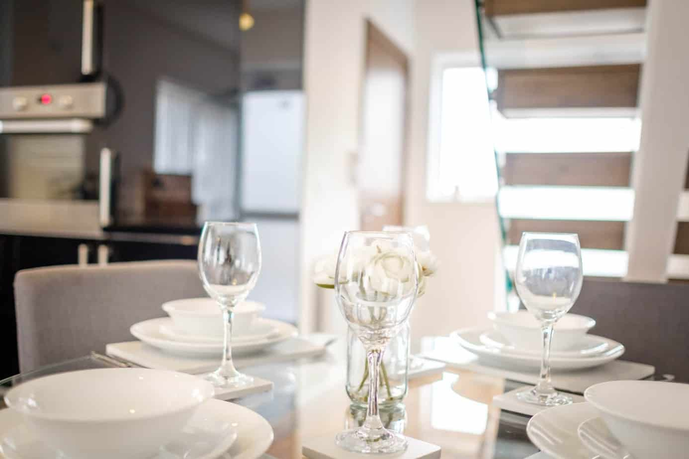 Tailored Stays grand central cambridge serviced apartment dining space