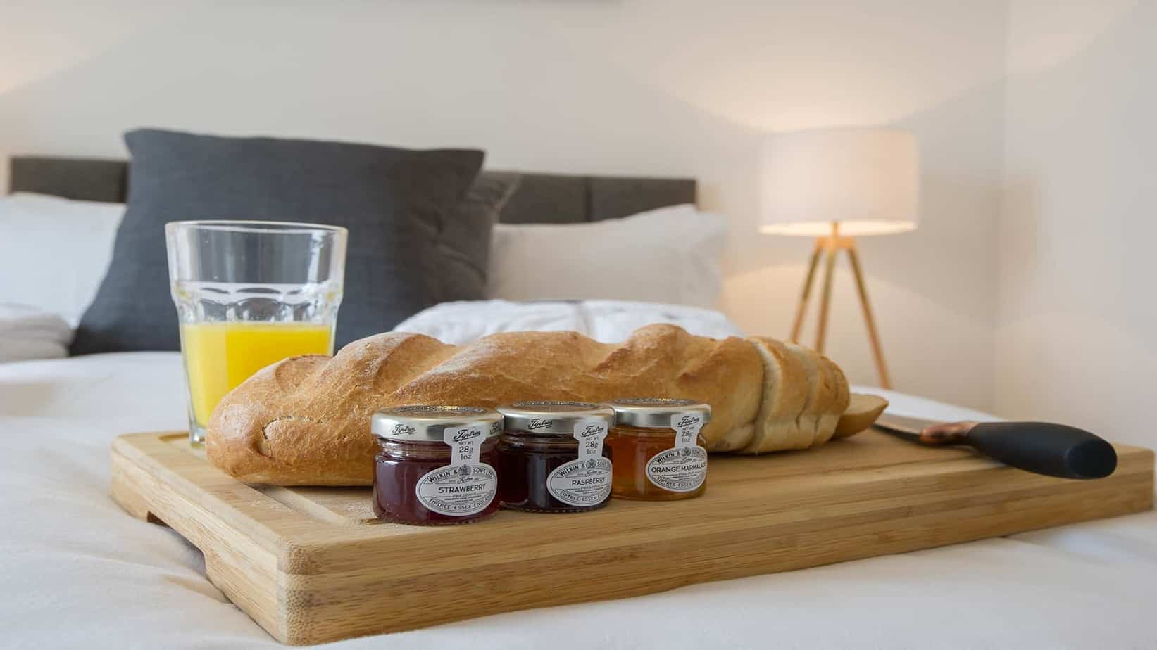 Tailored Stays enjoy breakfast in bed
