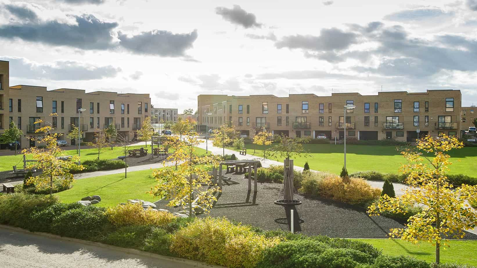 View of park near addenbrookes hospital from Tailored Stays Serviced Apartment balcony