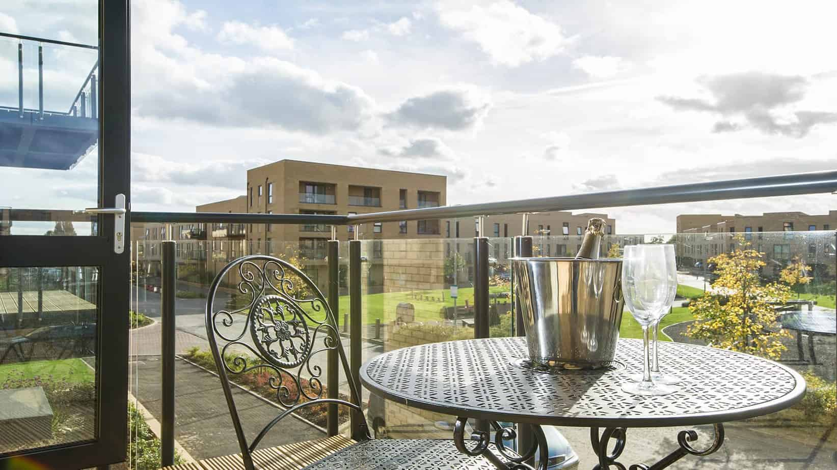Tailored Stays Dehavilland house serviced apartment balcony view